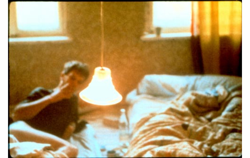 David in bed. Leipzig. Germany. 1992