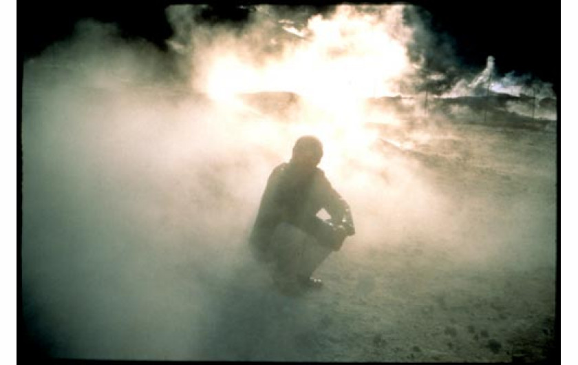 Bruce in the smoke. Pozzuoli. ltaly. 1995