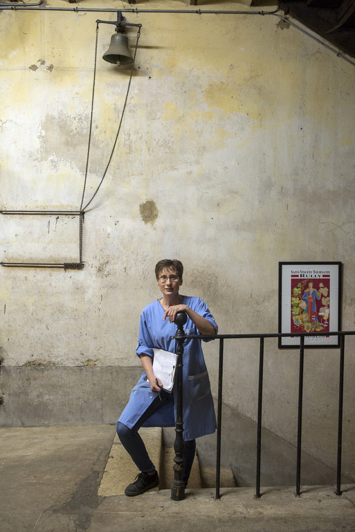 "fot. Thierry Gaudillere, ""Worker at Maison Champy"", 1. miejsce w kategorii Errazuriz Wine Photographer of the Year - People"