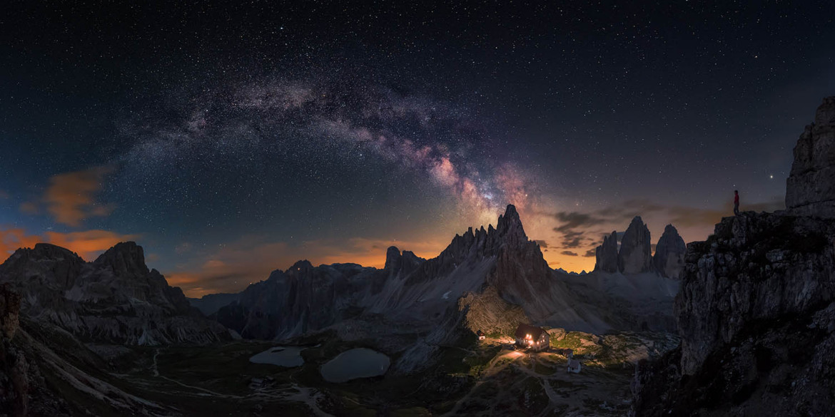 "fot. Carlos F. Turienzo, ""Guardian of   Tre Cime"" / Insight Investment Astronomy Photographer of the Year 2018"