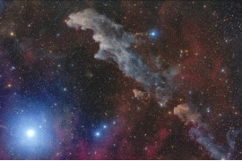 "fot. Mario Cogo, ""Rigel and the Witch Head Nebula"", 2. miejsce w kategorii Stars and Nebulae / Insight Astronomy Photographer of the Year 2018"