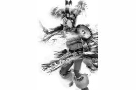 "fot. Timothy Huyck, z cyklu ""Powwow - Men's Dance"", 1. nagroda w kategorii Abstract / Monovisions Photography Awards 2019"