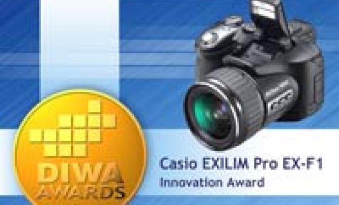 "Casio Exilim Pro EX-F1 - nagroda ""DIWA Innovation Award"""
