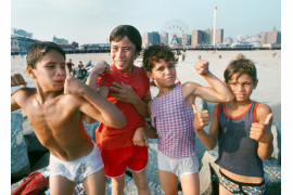"fot. Paul Hosefros, ""Group of Boys"", Coney Island / NYC Park Photo Archive"