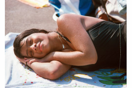 "fot. Paul Hosefros, ""Resting Girl"", Red Hook Pool / NYC Park Photo Archive"