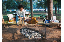 "fot. Neal Boenzi, ""Pig Roast"", Prospect Park Brooklyn / NYC Park Photo Archive"