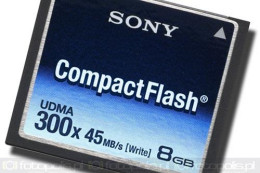 Sony CompactFlash 300x - 2, 4 i 8 GB