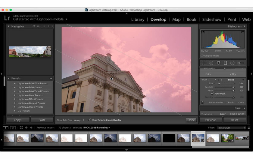 Adobe Lightroom 6 - Filter Brush