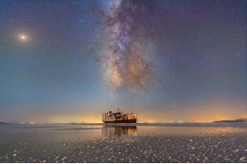 fot. Masoud Ghadiri, Port Sharafkhane i jezioro Urmia / Insight Investment Astronomy Photographer of the Year 2019