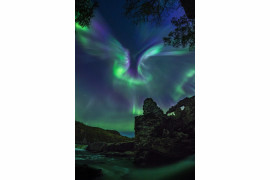 "fot. Alexander Stepanenko, ""Aurora is a Bird"" / Insight Investment Astronomy Photographer of the Year 2019"