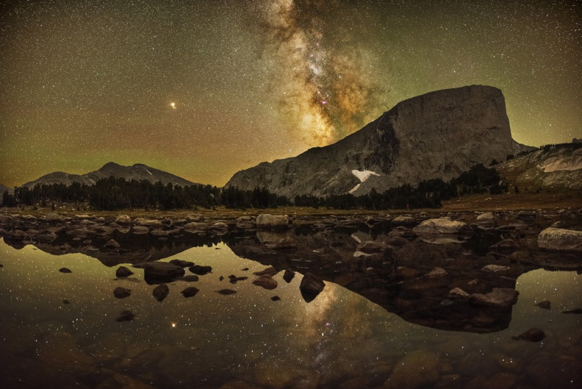 "fot. Marc Toso, ""Reflections of Mount Hooker"" / Insight Investment Astronomy Photographer of the Year 2019"