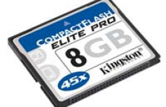 Kingston CompactFlash Elite Pro - teraz 8 GB