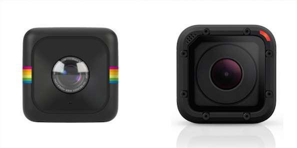 Polaroid Cube i GoPro Hero4 Session